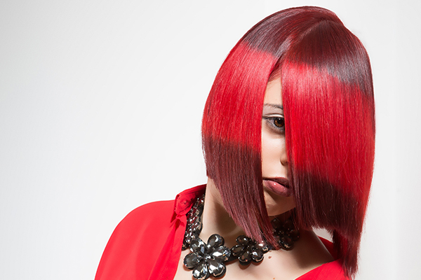An image of a woman with nice coloured hair